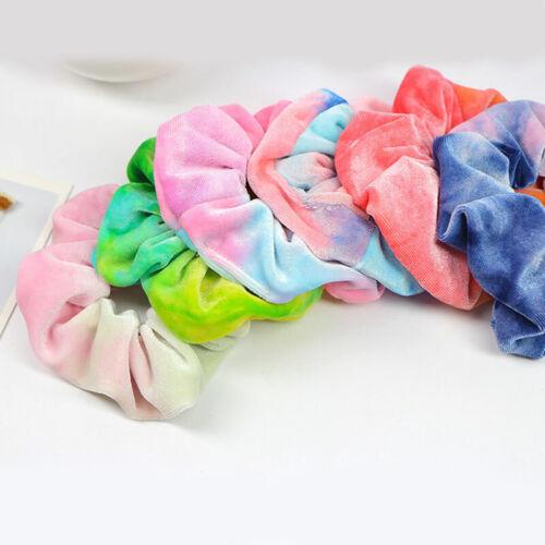 Bands Ponytail Holder Elastic Hair Rope Velvet Scrunchie Ring Tie Scrunchie
