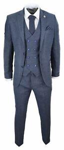 Herrenanzug-3-Teilig-Tweed-Design-Peaky-Blinders-1920-Stil-Wollenanteil
