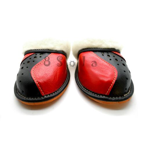 7 8 KZ1 100/% Genuine Leather Warm Women/'s Ladie/'s Slippers 3 6 4 5