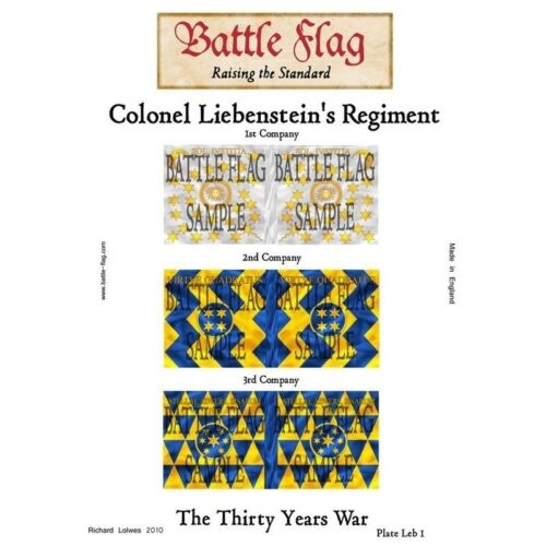 Battle Flag Colonel Leibenstein's Regiment Plate I Thirty Years War 28mm
