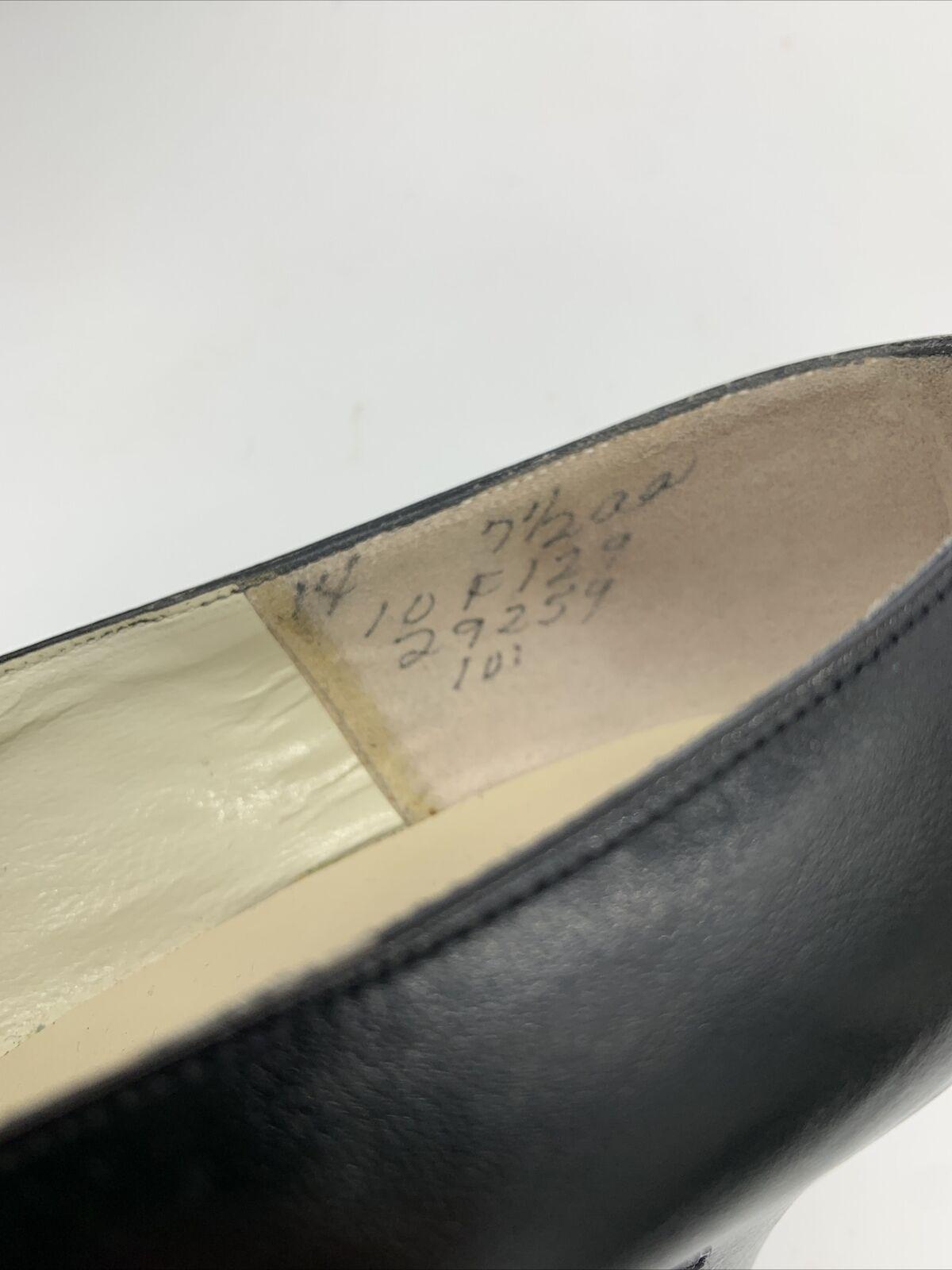 Antique Edwardian Bonwit Teller Black Leather Sho… - image 5