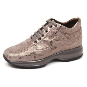 E0230 sneaker donna brown HOGAN INTERACTIVE shoe woman
