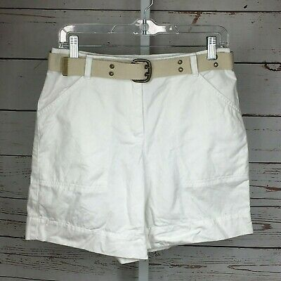 Charter Club Pant Shop Womens Classic Fit Skimmer Shorts Bright White 6