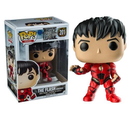 "DC JUSTICE LEAGUE UNMASKED Flash 3.75/"" FIGURA IN VINILE POP TV FUNKO 201"