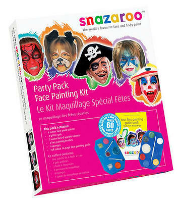 2019 Ultimo Disegno Ultimate Party Pack Snazaroo Make-up Kit Face Paint Costume Halloween-mostra Il Titolo Originale