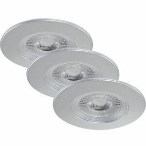 Briloner 7280-034 LED Einbauleuchten Set 3x5W Silber Kunststoff IP23 Starr