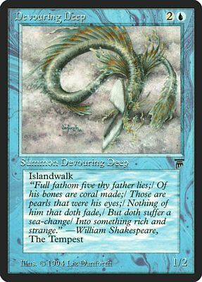 Devouring Deep Legends NM Blue Common MAGIC THE GATHERING MTG CARD ABUGames