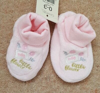 Baby Booties Pink Size 0-3months