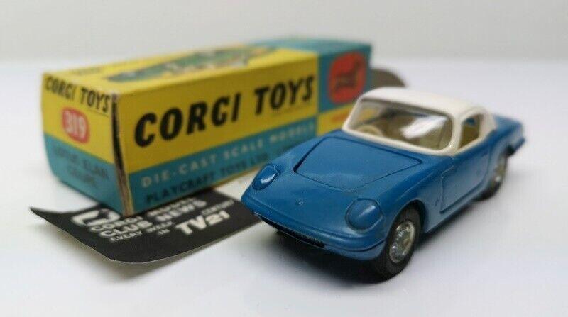 CORGI giocattoli   319 LOTUS ELAN COUPE  blubianca  MB