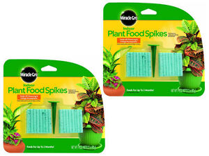 Details About 2 Pack Miracle Gro 300157 Indoor Plant Food 48 Spikes 2oz Fertilizer
