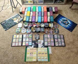 Huge-Pokemon-Card-Lot-10-000-100-EX-Binders-Pins-Play-Mats-Tins-Vintage-Japan