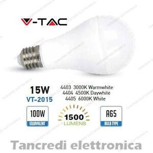 Lampadina-led-V-TAC-15W-100W-E27-VT-2015-A65-attacco-grande-globo-sfera-smd