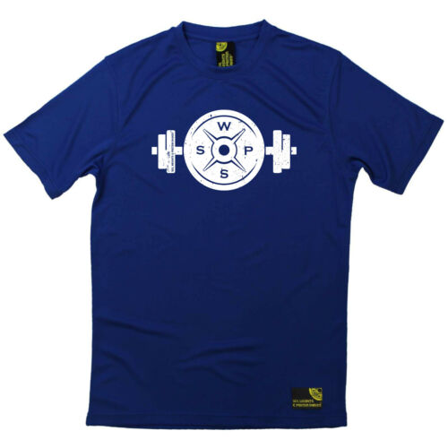Gym Bodybuilding T-Shirt Funny Mens Sports Performance Tee Weight Bar And Plat