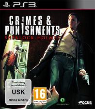 Sony PS3 Playstation 3 Spiel * Sherlock Holmes Crimes & Punishments *and und*NEU