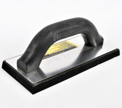 """9/"""" x 4/"""" Black Moulded Dense Rubber Float Trowel Concrete Texture Surface Finish"""