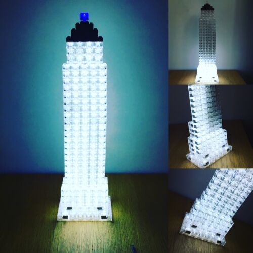 5 x LED LUNAR LIGHTS compatible with LASER PEG Bricks Multi coloured FREE AXLE!