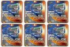 Geniune Gillette Fusion Proglide Power Razor Refill Blades, 48 Catridges NEW