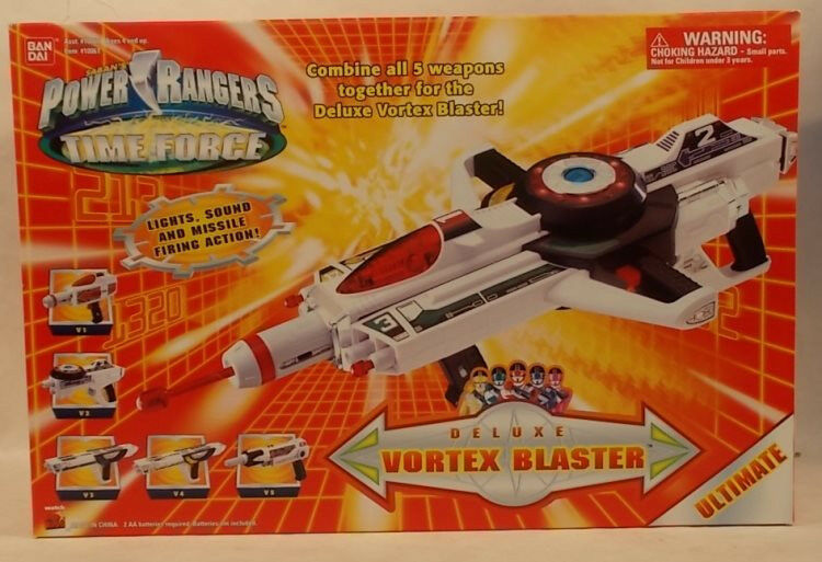 Power Rangers Time Force Ultimate Deluxe Vortex Blaster 5 Weapons Combine Lights