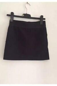 Miss-Selfridge-Black-Mini-Skirt-Size-10
