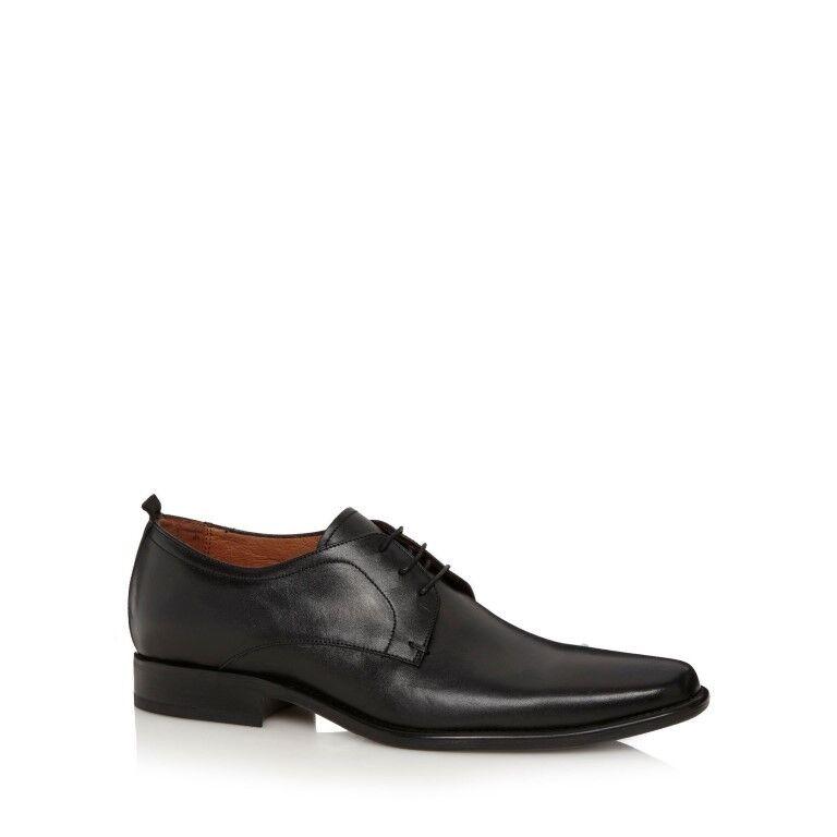 J Por Jasper Conran Para Hombre Negro Cuero Derby Zapatos JS41 54 SALEX