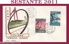 ITALIA FDC ROMA CAMPIONATI MONDIALI CICLISMO 1968  ANNULLO BARI G137