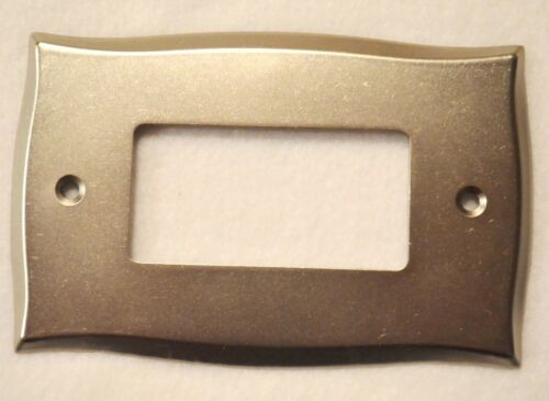 Lylah Metal Wall Plate Single Switch Duplex Decorator Outlet Cover Vintag Nickel