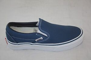 Details zu Vans Slip On Navy Canvas Classic Shoes VN 0EYENVY