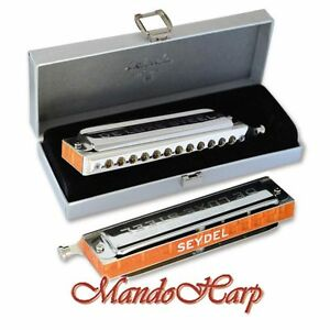 Seydel-Chromatic-Harmonica-54480-Chromatic-DE-LUXE-STEEL-12-hole-NEW