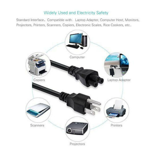 5ft 3-Prong Power Cord for Gateway FPD1760 FPD2185W LCD Monitor US Plug Adapter