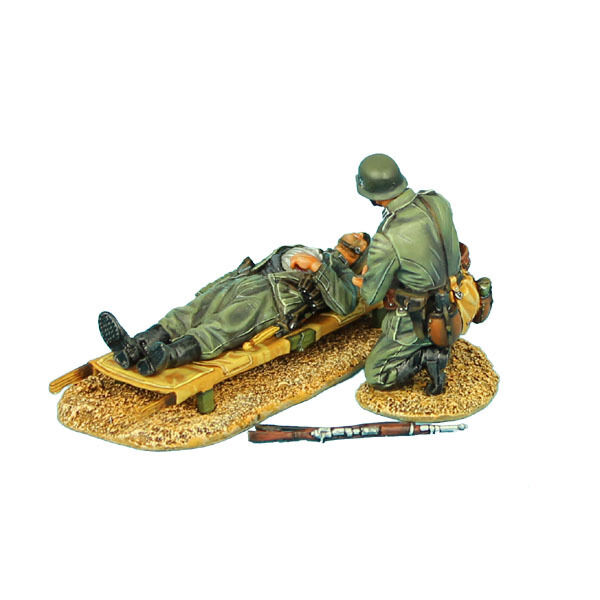 First Legion  GERSTAL035 German Medic and Wounded Soldier on Stretcher