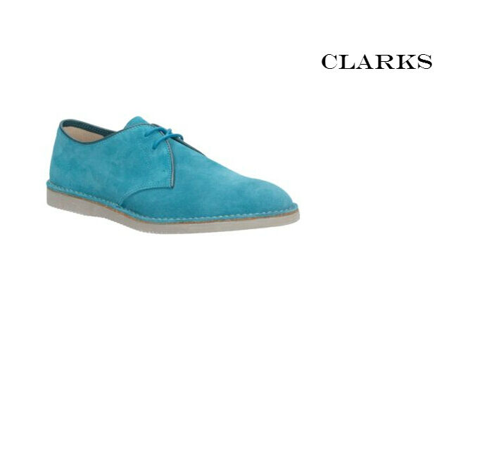 Clarks DARNING Lime Walk Benzina Blu & Lime DARNING In Pelle Scamosciata Uomo Lace-Up Scarpe RRP 6db64c