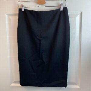 Ralph-Lauren-Collection-Purple-Label-Womens-Pencil-Skirt-Black-Lined-Wool-6