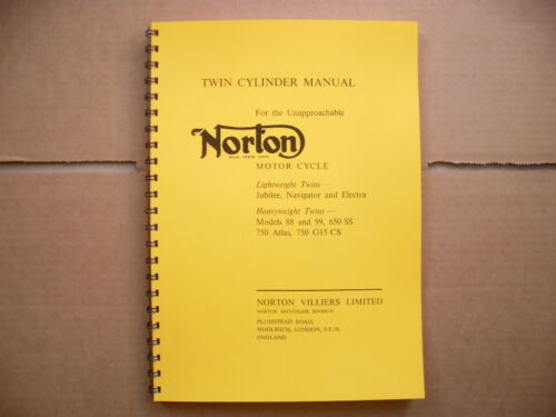 NORTON WORKSHOP MANUAL FOR JUBILEE,NAVIGATOR ,ELECTRA, 88,99,650SS,750 ATLAS-G15