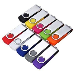 16GB 8GB 4GB USB 2.0 Swivel Flash Memory Stick Pen Drive Storage Thumb U Disk GA