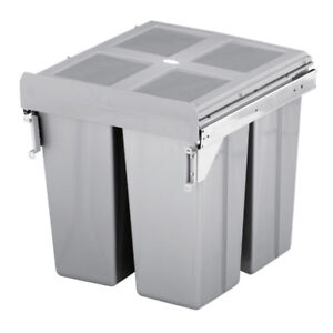 Image Is Loading Pull Out Kitchen Cabinet Integrated Recycle Waste Bin