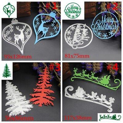 Merry Christmas Metal Cutting Dies Stencils Scrapbooking Embossing Cutter DIY