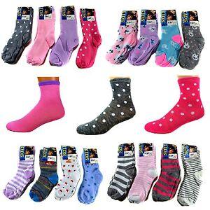 3b70ca145c Das Bild wird geladen 12-Paar-Kids-Maedchen-Socken-Kinder-Struempfe-90-