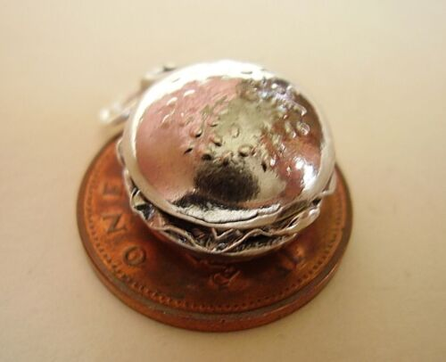 SALAD /' STERLING SILVER CHARM CHARMS OPENS SUPERB /' BEEFBURGER