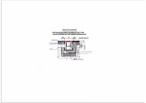 Hofablauf 25x25 PKW Einlaufkasten Hofeinlauf Bodenablauf Schlammeimer TOP