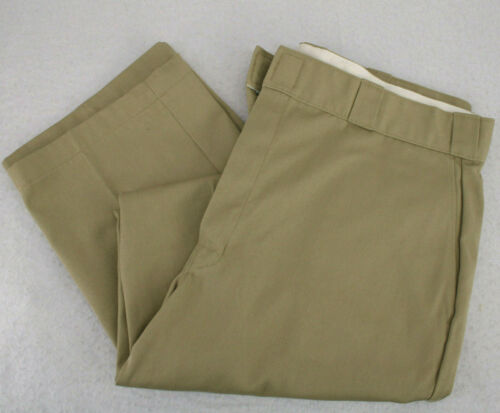 Vtg DICKIE'S Beige Khaki Flat Front Chinos Work Pa