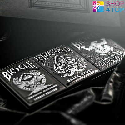 ELLUSIONIST LEGACY BOX SET BLACK GHOST SHADOW MASTERS TIGER PLAYING CARDS DECK