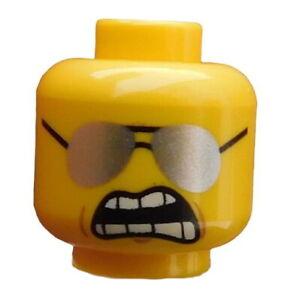 Lego-2-Stueck-Kopf-in-gelb-zwei-Gesichter-Brille-3626cpb1359-Bad-Cop-Polizist-Neu