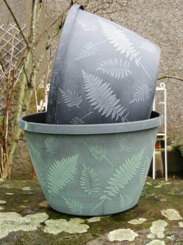 """11/"""" felce pianta da Giardino Pot Fioriera Smaltata effetto elegante Patio Fiore Decorazione"""