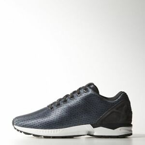 newest collection c497c b188d Image is loading Adidas-Originals-ZX-Flux-Knit-Carbon-Black-Men-