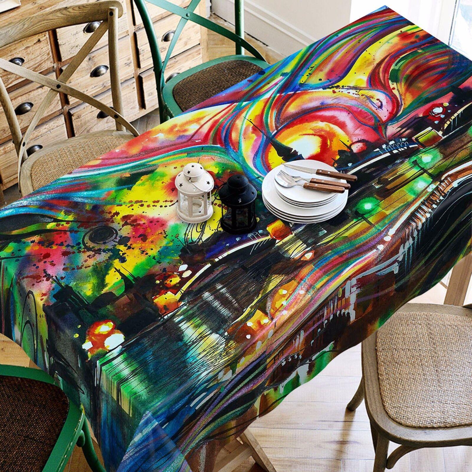 Couleur 3D 42 Nappe Table Cover Cloth fête d'anniversaire AJ papier peint Royaume-Uni Citron