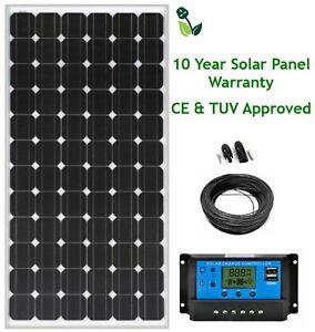 200w Mono 12v 24v Lcd Solar Panel Kit 10 Year Panel