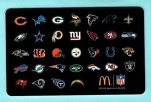 MCDONALD-039-S-Team-Logos-of-the-NFL-2014-Gift-Card-0