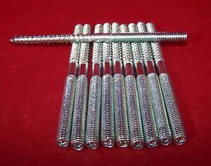10 Stück Stockschrauben Stahl verzinkt M 10 x 140 mm Torxantrieb Schlüsselfläche