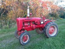 Farmall Super A Tractor Runs Good