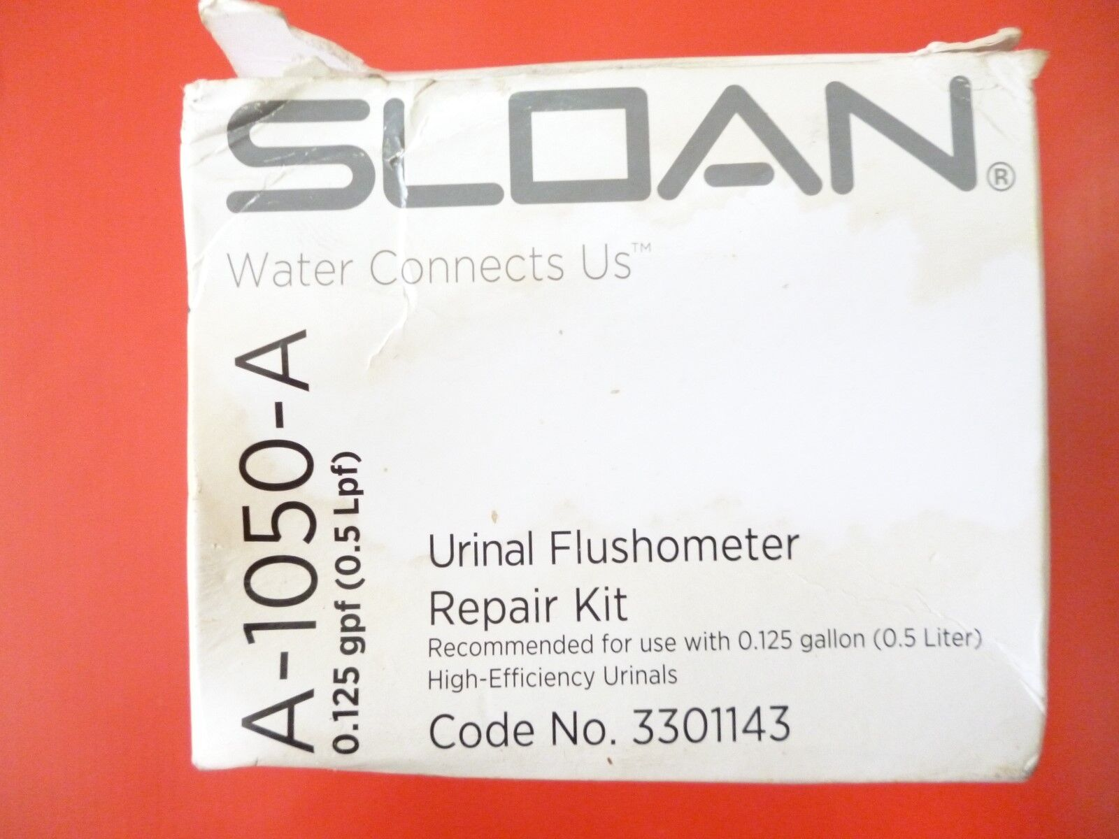 NEW IN BOX SLOAN URINAL FLUSHOMETER REPAIR KIT 0.125 gpf A-1050-A